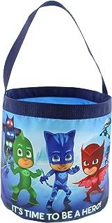 PJ Masks Boys Girls Collapsible Nylon Beach Bucket Toy Storage Tote Bag (One Size, Blue)