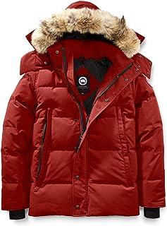 [カナダグース] CANADA GOOSE Men`s Wyndham Slim Fit Genuine Coyote Fur Trim Down Jacket メンズパーカー [Red Maple] [並行輸入品]
