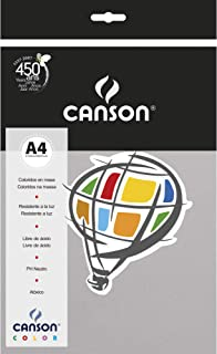 Papel Colorido A4 120g/m², Canson, 66661236, Cinza, 15 Folhas
