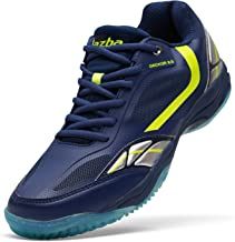 Jazba New GECKOR 2.0 Badminton Racquetball Squash Volleyball Indoor Court Shoes for Men, Non Slip, Non Marking and Lightweight Sole, Superior Cushioning and Ankle Support
