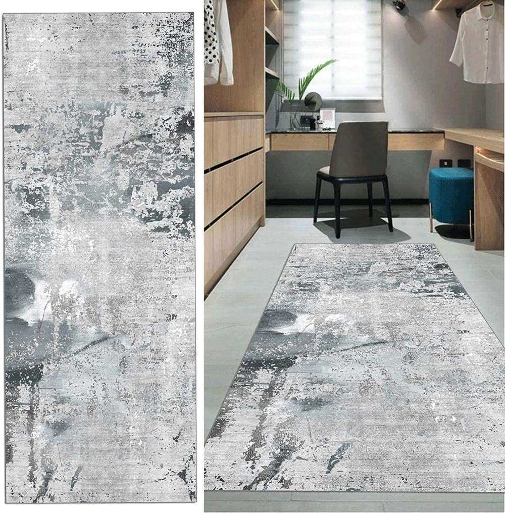 Custom Size Runner Rug for Hallway 11FT White Grey X 31.5IN store Max 44% OFF L
