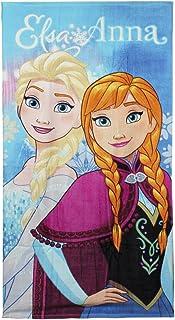 Disney Frozen Toalla de Playa Elsa & Anna, Algodón, Multicolor, 140x2x70 cm
