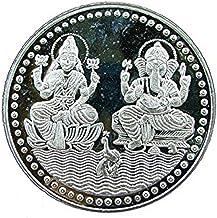 Ganesh Lakshmi Coin In Pure Silver 999 Religious Coin 10 Grams