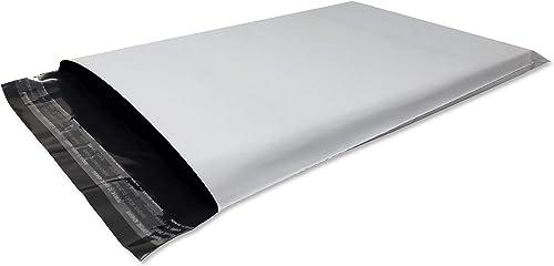 Lot de 100 Enveloppes plastique blanches opaques A4 250 x 350 mm,pochettes d'expédition 25x35 cm 60 microns. Envelopp...