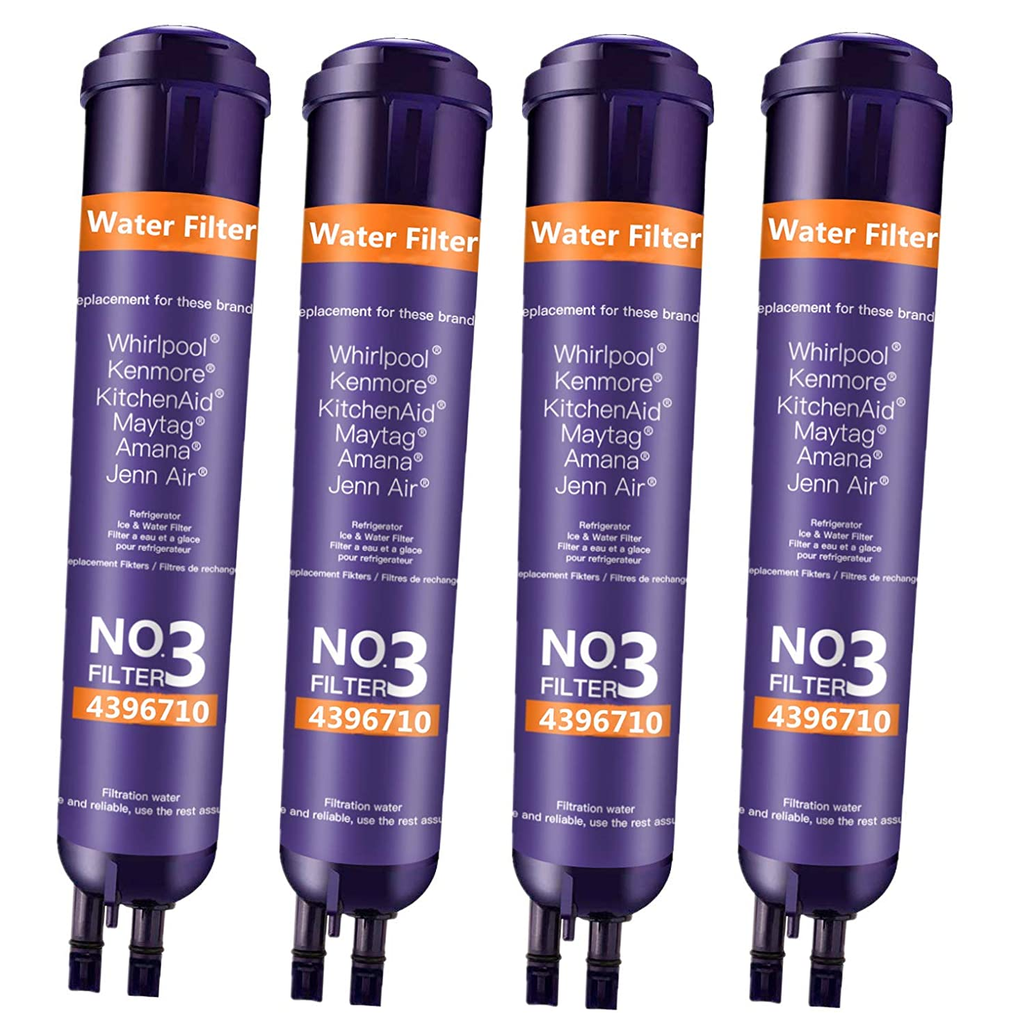 BOYTY Refrigerator Water Filter 9030 Replacement Ken-More 46/9083 9083 46/9030 9030 46/9020 Refrigerator Water Filter Purple(4 Pack)