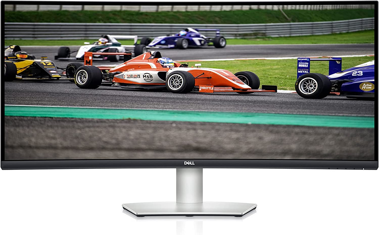 Dell S3422DW - 34-inch WQHD 21:9 Curved Monitor, 3440 x 1440 at 100Hz, 1800R, Built-in Dual 5W Speakers, 4ms Grey-to-Grey Response Time (Extreme Mode), 16.7 Million Colors, Silver (Latest Model)