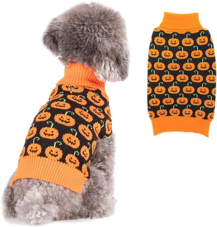 KYEESE Dog Sweater Halloween with Leash mart Fixed price for sale Hole Swea Turtleneck