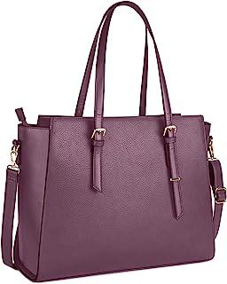 NEWHEY Handtasche Damen Shopper Damen Große Blau Gross Laptop Tasche 15.6 Zoll Elegant Leder Umhängetasche für Büro Arbeit...