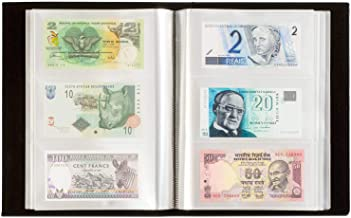 Album for 300 Banknotes with 100 Integrated Clear Sheets Black