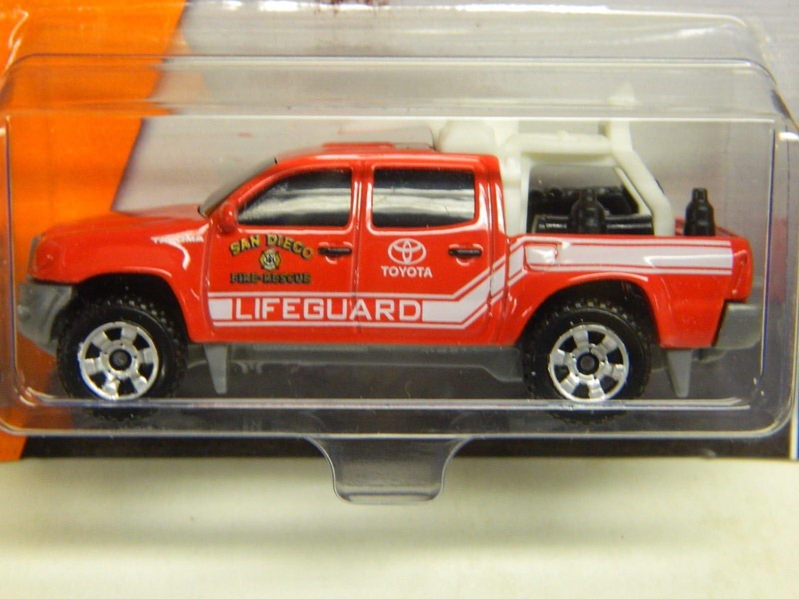NEW Matchbox #59 Toyota Tacoma San Diego Beach Lifeguard Fire Rescue Truck