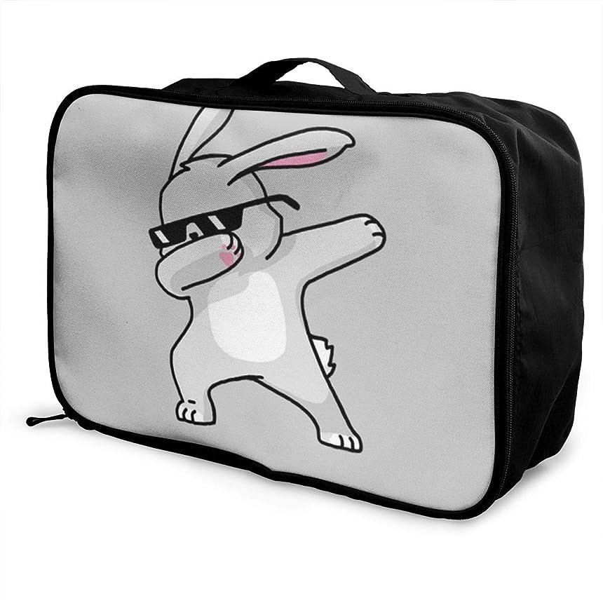 奨励メナジェリー世論調査レッドカラー ボストンバッグ キャリーオンバッグ ウサギ ダビング メガネ ガーメントバッグ 手提げ バッグ 旅行 トラベルバッグ フォールディングバッグ