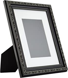 Craig Frames Ancien Ornate Table-top 8x10 Antique Black Standing Picture Frame with Mat
