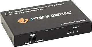 (1X2 Splitter) - J-Tech Digital Scaler/Multi-Resolution Output (MRO) 18GBps 1x2 HDMI 2.0 Splitter HDR10/Dolby Vision 4K@60...