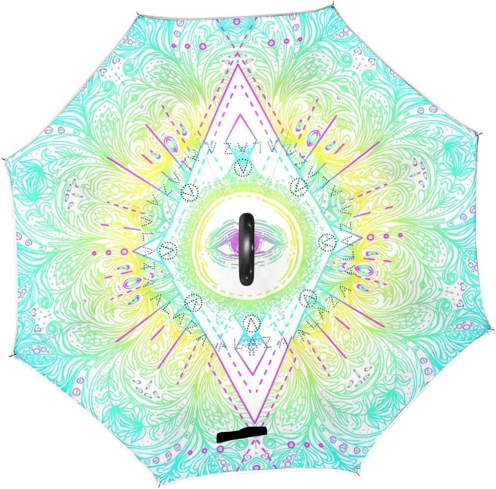 rodde Umbrella Award-winning store Sacred Eyes Halloween Vintage Inv Reverse Mandala Indianapolis Mall