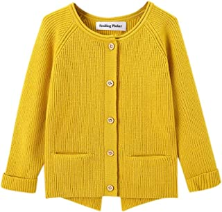 Hin Love Jas Long Sleeve Pocket Cardigan Sweater Girls and Boys Cute Comfortable and Warm