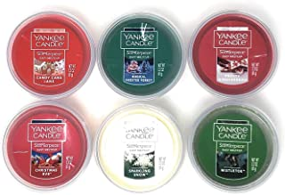 Yankee Candle Scenterpiece Easy Meltcup Holiday Collection - Bundle of 6 Meltcups with Red Organza Gift Bag
