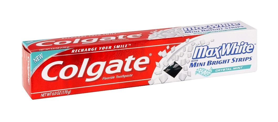 ピアメアリアンジョーンズ影響するColgate ミニ明るいとマックスホワイトクリスタルミントハミガキ6オズ(12パック)ストリップ