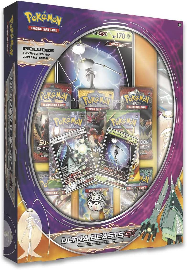 Year-end annual account 5 popular Pokemon Ultra Beasts Gx Premium Featuring Pheromosa Collection