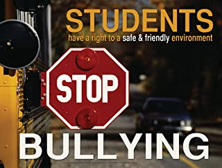 Stop Bullying Laminated Educational Poster For Elementary, Middle, and High School Students