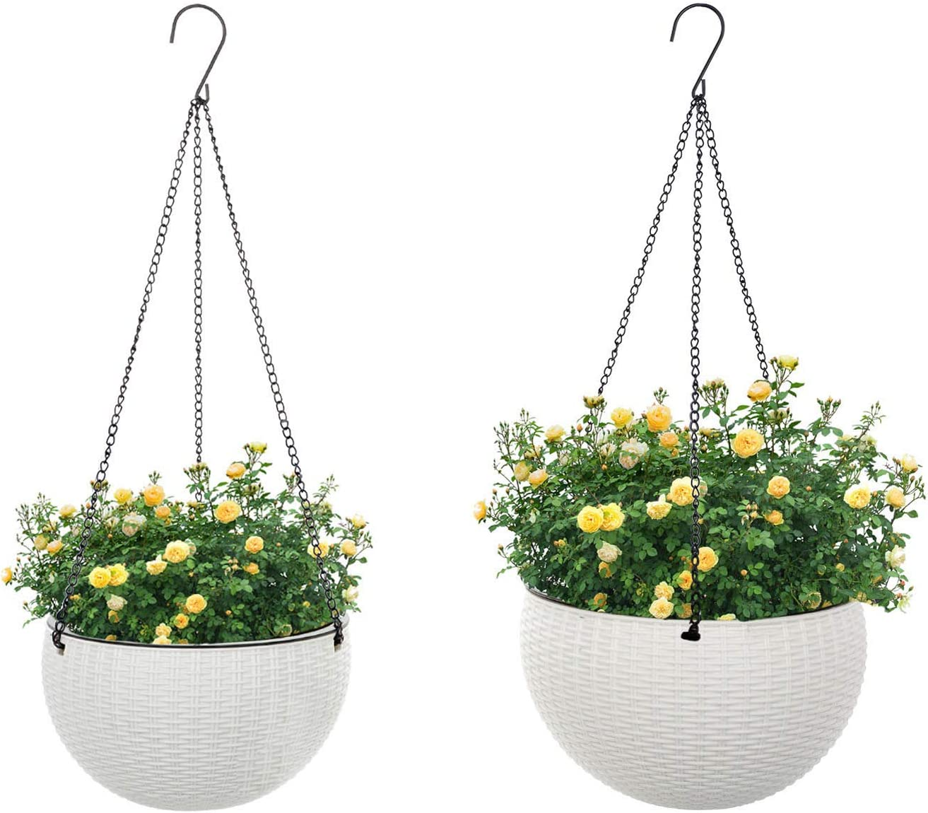 GROWNEER Max 63% OFF 2 Packs 10.2 Many popular brands and 8.8 wit Basket Hanging Planters Inches