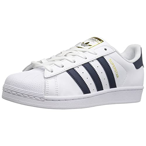 adidas superstar navy blue and white
