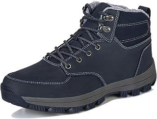 Mabove Bottes d'hiver Neige Bottines Homme Femmes Chaude Doublure Chaussures Montantes de Randonnée Trekking Outdoor
