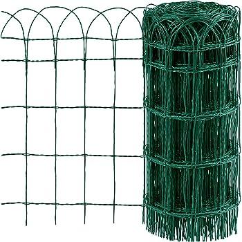 Recinzione Reti Per Giardino.Vidaxl Recinzione Per Giardino Ferro Verniciato 25x0 65 M Recinto