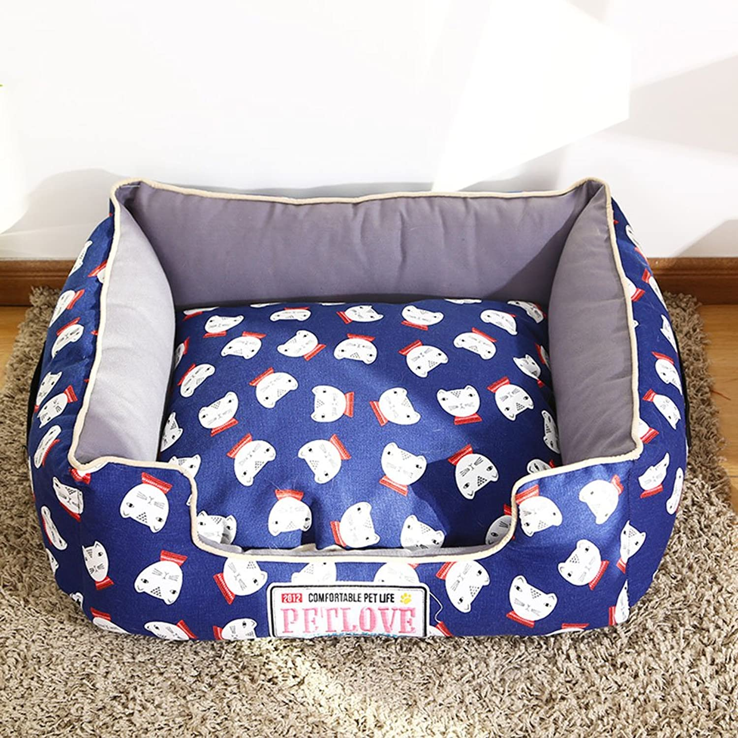 FH Pet Waterloo Teddy Dog Nest Small And Medium Sized Dogs Washable Four Seasons General Supplies Cat Cat Nest Dog Bed Bomei Bichon Dog Houses (Size   S50  40cm)