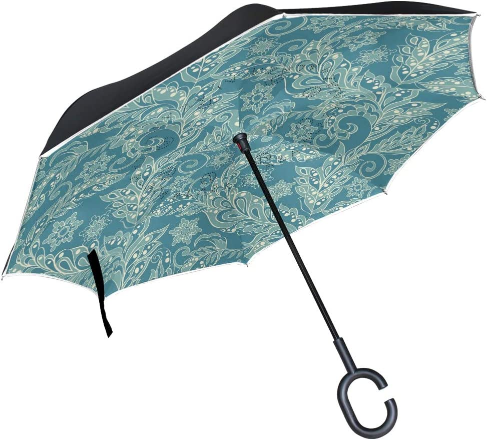 senya Windproof Phoenix Mall Double Layer Folding i Umbrella Inverted Price reduction Floral