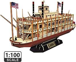 CubicFun Puzzle 3D Mississippi Steamboat Model Rompecabezas 3D Barco and Nave Kit Regalo for Niños y Adultos, 142 Piezas