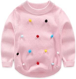 Toddler Kids Baby Girls Round Neck Long Sleeve Pullover Knit Sweater Warm Sweatshirt