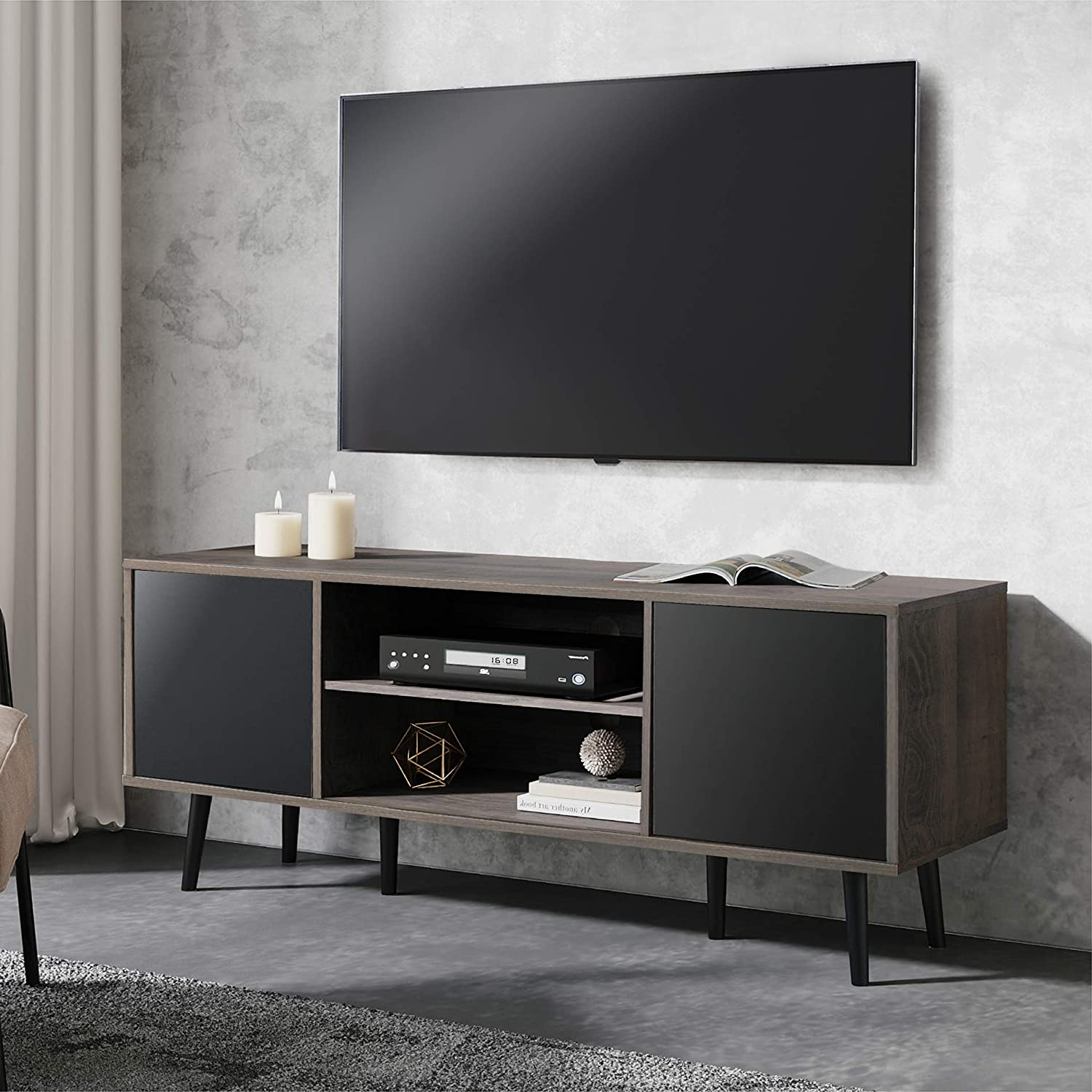 WAMPAT Mid-Century Modern TV Stand for up inch 65 TVs Max 68% OFF Our shop OFFers the best service Retro to
