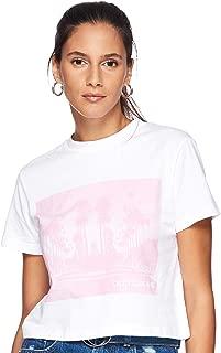 Calvin Klein Women's 2724702461-White T-Shirts