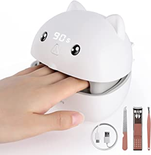 Sponsored Ad - Fascinated UV LED Nail Lamp, Nail Dryer with 3 Time Setting, Mini Compact Portable Nail Light, USB-C Port, ...