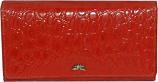 Laveri Red Leather For Women - Flap Wallets