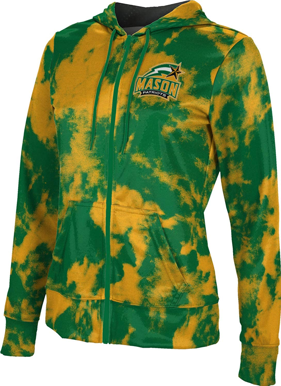 ProSphere George Mason University Girls' Zipper Hoodie, School Spirit Sweatshirt (Grunge)
