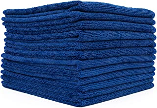 (12-Pack) 16 in. x 16 in. Commercial Grade All-Purpose Microfiber Highly Absorbent, LINT-Free, Streak-Free Cleaning Towels - THE RAG COMPANY (Royal Blue)