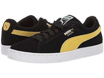 PUMA Suede Classic (Puma Black/Blazing Yellow) Shoes