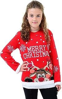 Niños Niños Niñas Navidad Traje de Santa Mr Cool Unicornio Jersey de Punto Top de Manga Larga