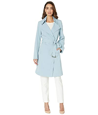 Vince Camuto Belted Trench V19722 (Dusty Blue) Women