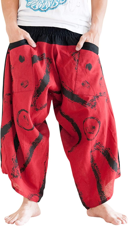 BohoHill Ninja Warrior Samurai Harem Las Vegas Mall Zigza Unisex Trousers Pants 25% OFF