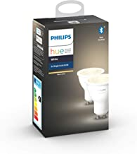 Philips Hue White Smart Spotlight Twin Pack LED [GU10 Spot] with Bluetooth, Works with Alexa and Google Assistant