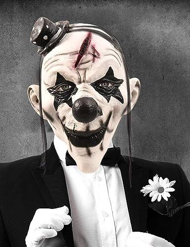 Seleccione de las marcas más nuevas como Xiao-máscaras Máscara de Halloween Miedo Payaso Payaso Payaso Látex Mascarilla Facial Boca Grande Cabello Nariz Cosplay Horror Masquerade Adulto Fantasma Fiesta para Accesorios  ordenar ahora