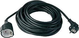 uniTEC 44567 - Cable alargador schuko (H05VV-F 3G, 1, 5 mm², 10 m), color negro