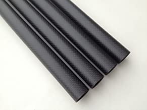 US WHABEST 2Pcs Carbon Fiber Tube 3k Matte 10mm OD x 8mm ID X 1000MM Long (Roll Wrapped) /Tubing/Pipe/Shaft