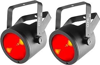 (2) Chauvet DJ Core Par 80 USB 80W Stage Par Light Effects FX With D-Fi USB, Ultra-wide/Narrow Beams, DMX, and Sound-Active Mode