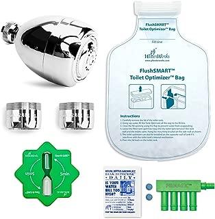 PF WaterWorks PF0567 HydroSAVER Water Saver Kit-WaterSense Showerhead, 2X Bath Aerators, Toilet Tank Optimizer, Fill Cycle Diverter, Shower Timer, Flapper Leak Detect Tablet, Chrome