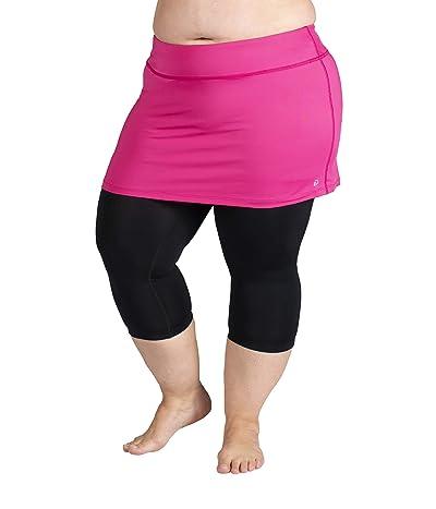 Skirt Sports Plus Size Lotta Breeze Capris Skirt (Fuchsia/Black) Women