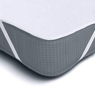 Melunda Protector de colchón Impermeable - 90 x 200 cm - Protector de colchón de algodón Anti-alérgico dermatológicamente Probado