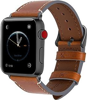 f98be2ceda Fullmosa Bracelet Compatible avec Apple Watch 38mm 42mm pour Homme Femme, 8  Couleurs Wax Bracelet